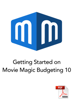 Getting Started on Movie Magic Budgeting 10