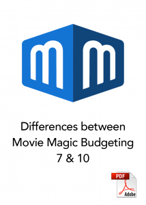 Difference between movie magic budgeting 7 and 10