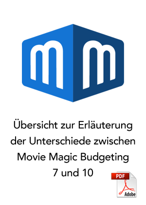 Differences between Movie Magic Budgeting 7 and 10